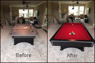 pool table refelting and pool table felt in madison content