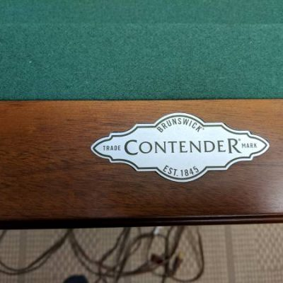 Brunswick Contender Pool Table-Reduced