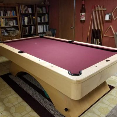 Olhausen Waterfall Pool Table 8'